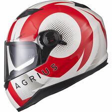 Agrius Rage SV Warp Motorcycle Helmet M Gloss Pearl White/red