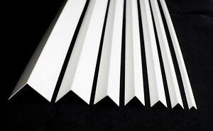 WHITE PLASTIC PVC CORNER 90 DEGREE ANGLE TRIM 2.5 METERS VARIOUS SIZES