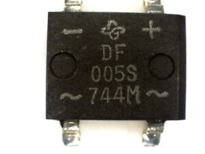 20x  DF005S BRIDGE RECTIFIER 1A 50V SMD DF 005S