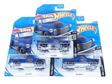 2020 Hot Wheels 52 Chevy Pickup Truck #201 Rod Squad Blue Lot of 3