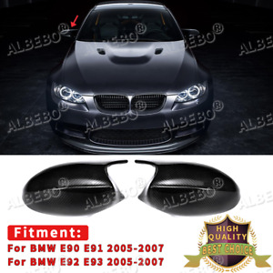 CARBON FIBER Rear View Side Mirror Caps M3 Style For BMW E90 E91 E92 E93 Pre-LCI
