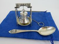 Webster & Co Sterling Silver Liberty Bell Tea Ball Infuser & Drip Stand, c1890s