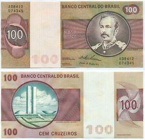 BRAZIL NOTE 100 CRUZEIROS (1974) P 195Aa UNC