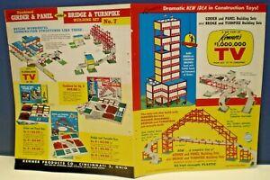 "Kenner's Original 1961 ""Turnpike ,Bridge & Girder "" Multi sided Retailer flyer"
