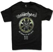 """MOTORHEAD """"NO ALBUM TOUR 2012"""" BLACK T-SHIRT NEW OFFICIAL WARPIG ADULT SMALL S"""