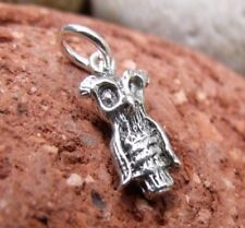 FREE U.K POSTAGE AND PACKAGING SILVER JEWELLERY-OWL SILVER PENDANT