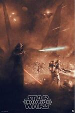 Star Wars Force Awakens Karl Fitzgerald Bottleneck Poster Print