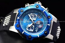 Invicta Men 52mm Bolt Swiss Chron Silver Blue Compass polyurethane strap Watch