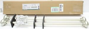 "2 Turquoize 28"" - 48"" Curtain Rods - Nickel Finish"