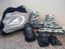 Rollerblade Activa 90 Wome Skates Silver/Light Blue, Size Us 5.5