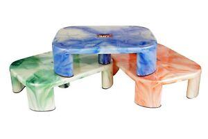 Plastic Non Slip Robust Utility Foot Stool Bathroom Kitchen Step Up Grip Patla
