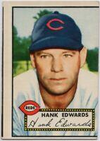 1952 Topps #173 Hank Edwards Low Grade Cincinnati Reds FREE SHIPPING Red Back