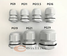 IP68 WHITE CABLE GLAND NYLON WITH NUT PG7 PG9 PG11 PG13.5 PG16 PG19 PG21 PG29