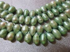 Freshwater Green Teardrops Pearl Beads 105pcs