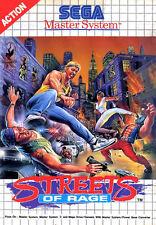 Framed SEGA Master System Game Print – Streets of Rage (Gaming Arcade Classic)