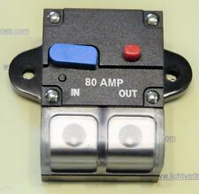 80A Sicherungsautomat Automatik Schalter Auto Audio Solar KFZ 12V / 24V DHLDE