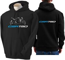 Felpa per moto SUZUKI GSR 750 hoodie sweatshirt bike hoody Hooded sweater