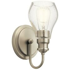 Kichler Greenbrier 1 Light Wall Sconce, Nickel - 45390NI