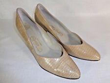 "Thomas Cort Women's Shoes Vintage ""Rare"" Lizard Classic Taupe Pump 8.5 B Slip On"