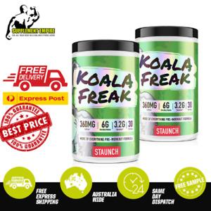 2 X STAUNCH KOALA FREAK Pre Workout Energy Preworkout 30 Servings TWIN PACK