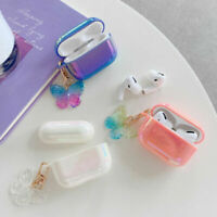 For AirPod AirPods 1 2 Pro Shockproof Glitter Cute Case Cover +Butterfly Pendant