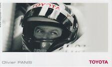 Olivier Panis Toyota Formula 1 Promo Card F1.