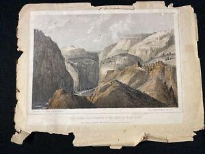 Orig 1854 US Pacific Railroad Survey Lithograph F. W. Egloffstein Grand River