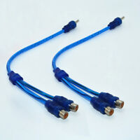"""Connector Cable """"Y"""" Adapter Splitter Plug RCA Audio 2 Female to 1 Male 2 Pcs 12"""""""