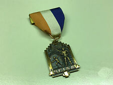 Old Vtg 1964 SCIAA 3rd Place Medal Trophy Award Ribbon Pin Jewelry JAVELIN