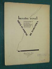 """Partitions Violon et piano """"Pièce en forme de Habanera"""" Maurice RAVEL"""