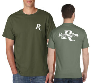 REMINGTON Logo T-Shirt Front and Back Pro Firearms Guns NRA on S-6XL Gildan Tee