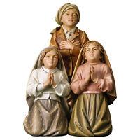 Santi Pastorelli di Fatima  - Little Saint Shepherds of Fatima wood-carved Group