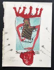 Paul Roxi, Scardanelli, übermalte Katalogtitelseite, handmonogrammiert