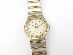 Omega Constellation '95 Silver 25.5mm with 18k Gold Full Bar 1272.30.00 Boxed