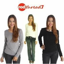Long Sleeve Solid Tops for Women