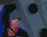 Warner Brothers Animated Series Production Cel Superman-World's Finest Pt 3