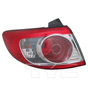 Outer Quarter Tail Light Rear Lamp Left Driver for 10-12 Hyundai Santa Fe