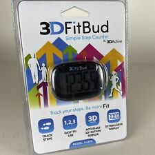 NEW 3D FitBud Simple Step Counter Walking 3D Pedometer w/ Clip & Lanyard A420S