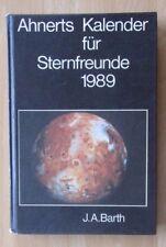 DDR Jahbuch Ahnerts Kalender Sternfreunde 1989 Astronomie Fernrohr Sternwarte