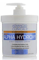 Advanced Clinicals AHA Alpha Hydroxy Acid 5 in 1 Therapy Cream 16 oz (454g)