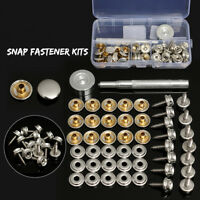 15mm Stainless Canvas to Screw Press Stud Snap Kit Boat Cover Fitting Fastener