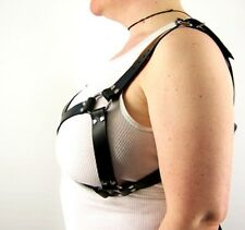 Large Leather Bra Style Harness by Axovus