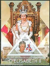 TOGO  2013 60th  ANNIVERSARY OF THE  CORONATION QUEEN ELIZABETH  II S/S IMPF NH