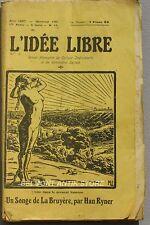 L'Idée Libre n°16 6eme série - 1927 -  L'oeuvre antireligieuse en Russie.