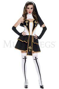 Music Legs Women's Halloween Costume Flirty Nun 70627/Q Party Clothing