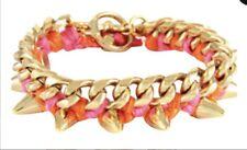 Ettika Gold Spike Bracelet Pink Orange Gold Saks