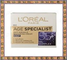 L'Oreal New Age Specialist 55+ Night Face Cream Anti-Wrinkle Restoring 50ml