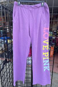 Womens Victorias Secret PINK boyfriend style sweatpants medium size purple