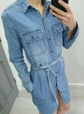 New Look denim button up long sleeve dress size UK 6