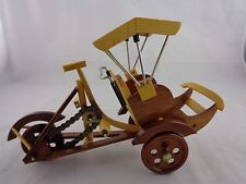 "Vintage Miniature Wood Cyclo Cycle Rickshaw Bicycle Working Parts 10"" x 6"""